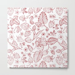 Sreawberry Metal Print