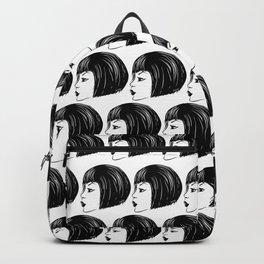 Bob haircut profile Backpack