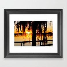 Sunsetting Framed Art Print