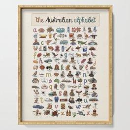 The Australian Alphabet Serving Tray