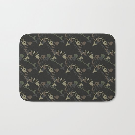 fish pattern Bath Mat