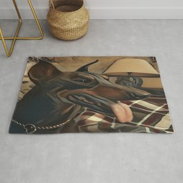 The Doberman Pinscher Rug