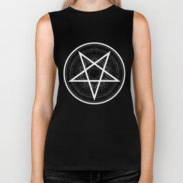 Baphomet Pentagram Star - Satanic sign Biker Tank
