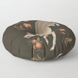 The Wolf and Rose Hips Floor Pillow