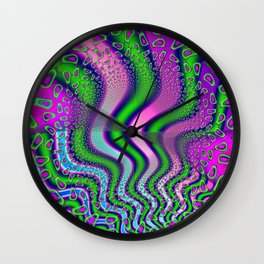 Gooseberries Psychedelic Fractal Wall Clock