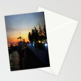 Night falls at Lakes Entrance Stationery Cards