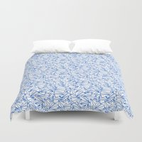 aviation Duvet Covers featuring Schoolyard Aviation White by Dianne Delahunty