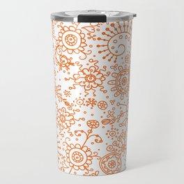 Graphic Ink Doodles (orange) Travel Mug