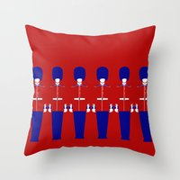 uk Throw Pillows featuring UK by Marcus Wild