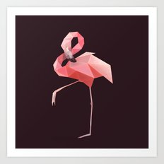 Flamingo. Art Print