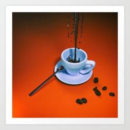 Sine coffea nihil sum Art Print