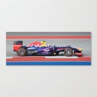 formula 1 Canvas Prints featuring Formula 1 by jay v jackson