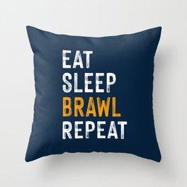Eat, Sleep, Brawl Repeat (Ver.2)   Brawl Stars Throw Pillow