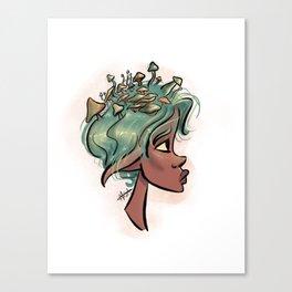 Mush Head Canvas Print