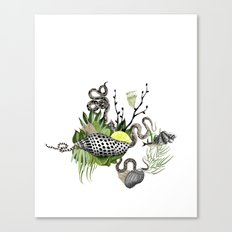 shells and snakes Canvas Print