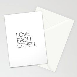 Love each other Stationery Cards