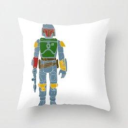 My Favorite Toy - Boba Fett Throw Pillow