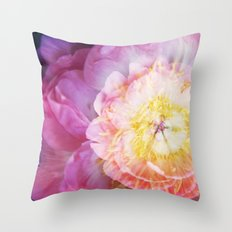 Peony Abstractions Throw Pillow