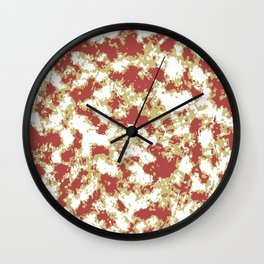 Abstract Textured Grunge Pattern Wall Clock