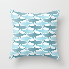 Shark Camouflage Throw Pillow