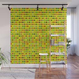 Multi-coloured Pills Pattern Wall Mural