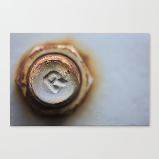 R Bolted Canvas Print
