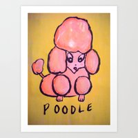 poodle Art Prints featuring poodle by helendeer