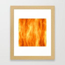 Red flame burning Framed Art Print