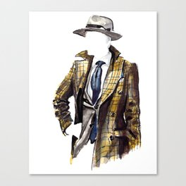 Tweed Jacket Gentleman Canvas Print