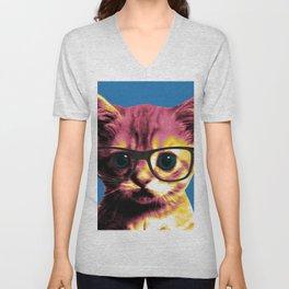 Pop Art Cat Unisex V-Neck