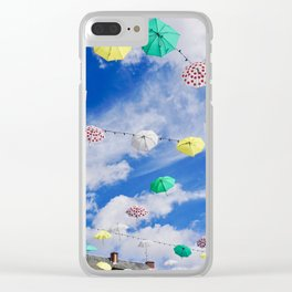 Colourful Umbrellas Clear iPhone Case