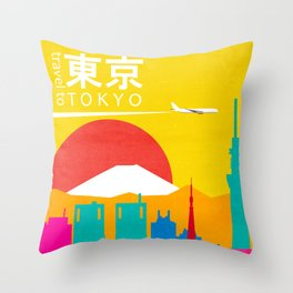 Travel to Tokyo Throw Pillow