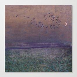 'under every deep a lower deep opens' Canvas Print