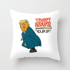 Trumpy by Nature Throw Pillow