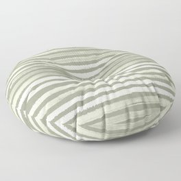 Simply Shibori Stripes Green Tea and Lunar Gray Floor Pillow