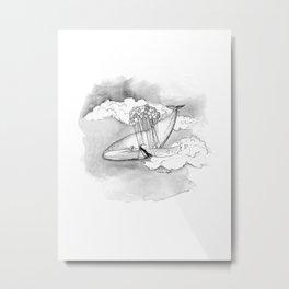 Winnifred the Whale Metal Print