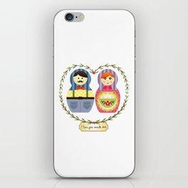 I {❤} Matryoshka iPhone Skin