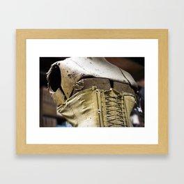 Vintage Corset Framed Art Print