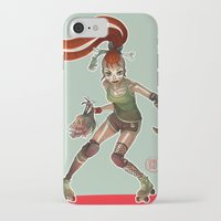 roller derby iPhone & iPod Cases featuring Roller Derby by Doriane  *BamboO*