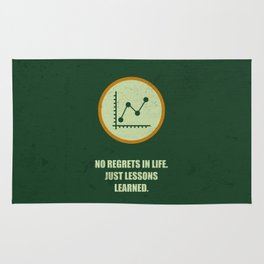 Lab No. 4 - No Regrets In Life Just Lessons Learned Business Quotes Rug