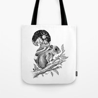 squirrel Tote Bags featuring SQUIRREL by Thiago Bianchini