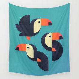 Toucan Geometric - Group Wall Tapestry