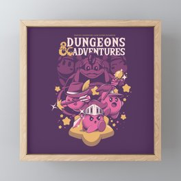 Dungeons and Adventures Framed Mini Art Print