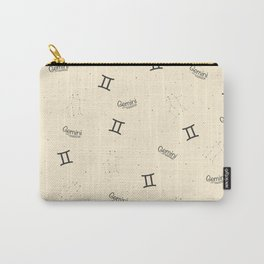 Gemini Pattern - Beige Carry-All Pouch