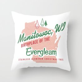 Birthplace of the Evergleam Throw Pillow