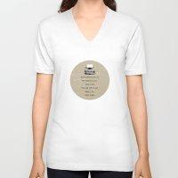 typewriter V-neck T-shirts featuring Typewriter by Word Quirk