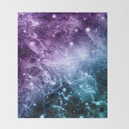 Purple Teal Galaxy Nebula Dream #4 #decor #art #society6 Throw Blanket
