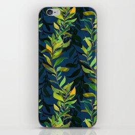Blue and Green Seaweed Pattern iPhone Skin
