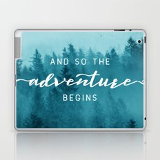 And So The Adventure Begins - Turquoise Forest Laptop & iPad Skin
