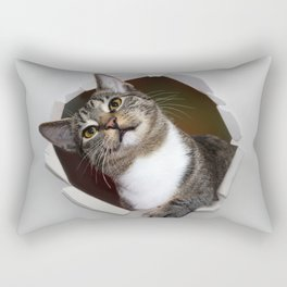 watch out for the cat Rectangular Pillow